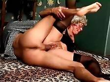 Tough young dude thoroughly pounds slutty granny Mrs Jones.