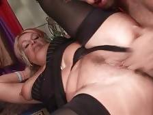 Craving aged blonde gets deeply pounded by younger guy.