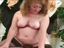 Nasty granny greatly enjoys hard dick inside her hole.